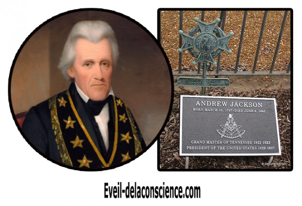 0_Andrew Jackson en tenue de grand Maître franc-maçon de la Grande Loge du Tennessee