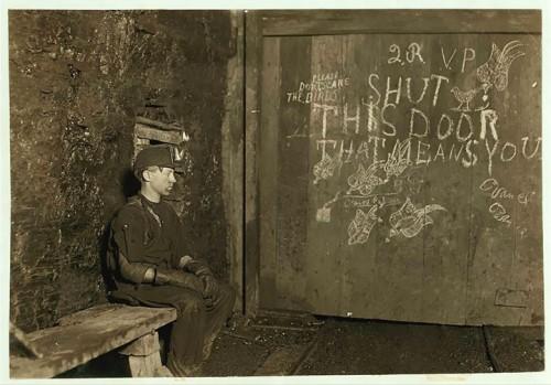 6_Portier pour chariots dans une mine de Virginie-Occidentale