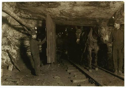 7_Portier dans une mine de Pittston, Pennsylvanie