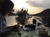 Uitzicht camping Vivari
