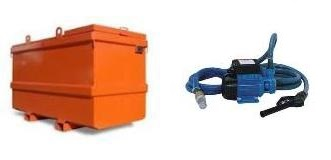 Dieseltank en brandstofpomp