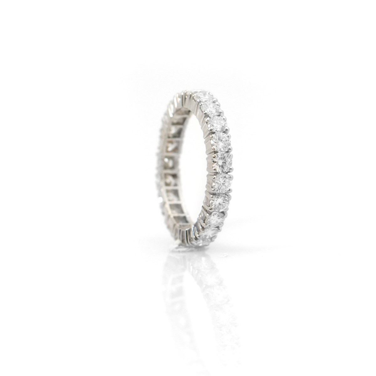 Alliance américaine diamants et platine |Référence : BA-B18623 |EVENOR, Joaillerie spécialiste en bijoux vintage et d'occasion