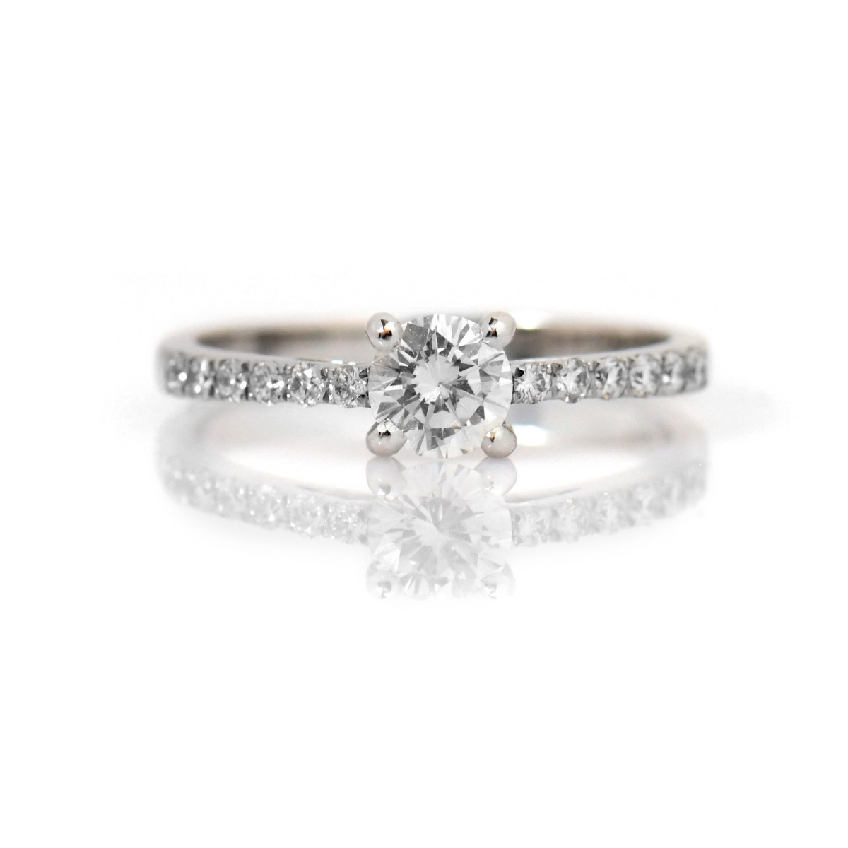 Bague Alliance Solitaire diamant,