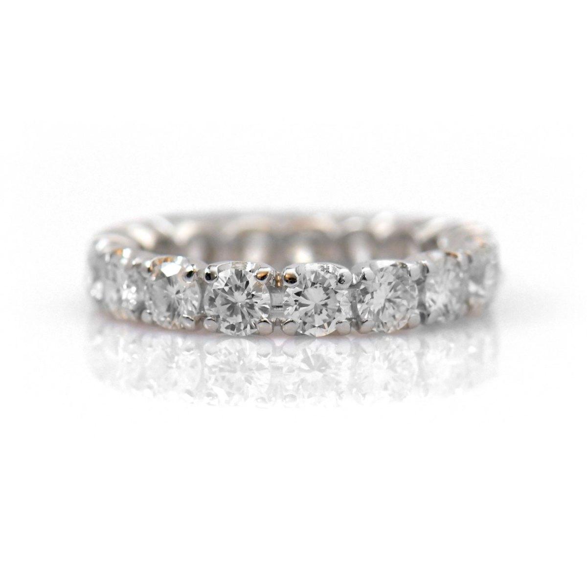t env., Alliance Américaine Diamants, taille Brillant, 2,70 c serti griffes, or blanc 750 ‰ | Réf. BA-B17906 |EVENOR Joaillerie • Bijoux neufs, bijoux Vintage, bijoux d'occasion