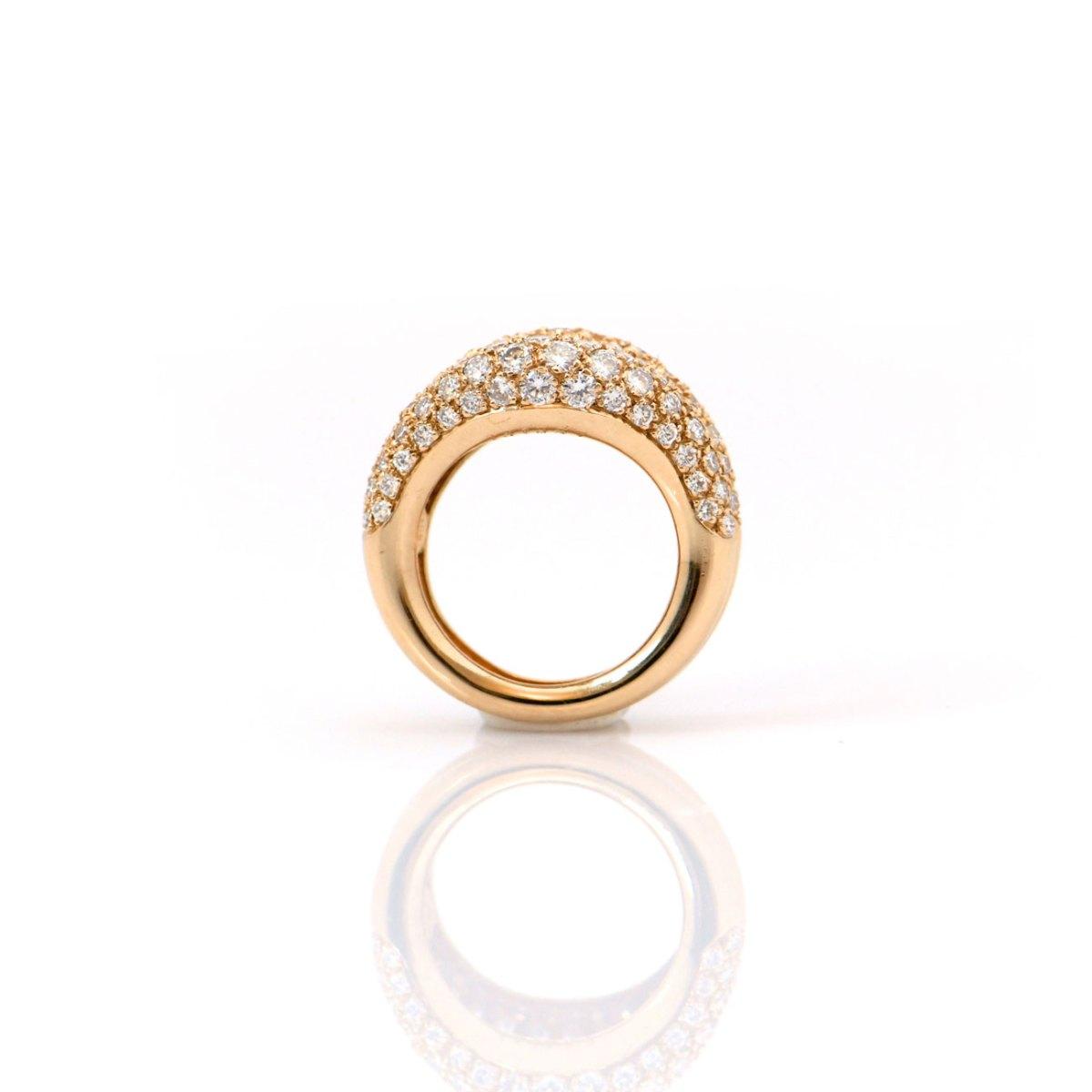 Bague Diamants en pavage CHAUMET, Or jaune 750‰ | Réf BA-B18646 | EVENOR Joaillerie • Bijoux Vintage et d'occasion