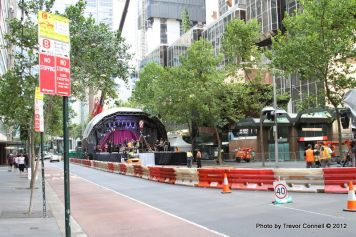 The Elizabeth St stage at 4 pm