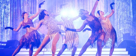 Event Photography - 1920's dancers in flapper dresses at a Sydney Star Casino event