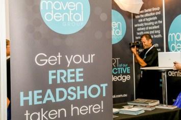 Exhibition headshots stand