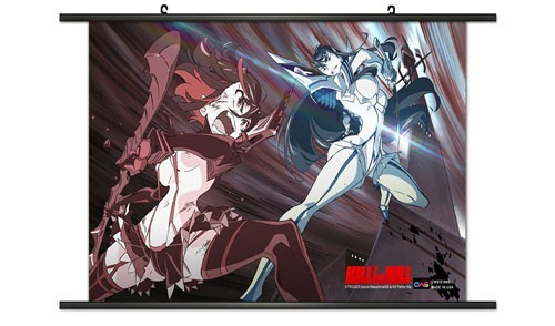 kill la kill ryuko and satsuki action wall scroll poster