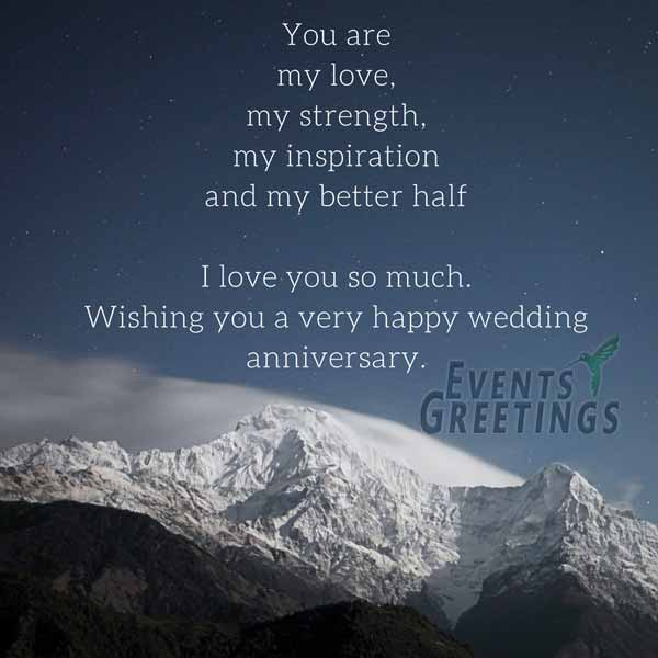 Anniversary wishes for husband events greetings