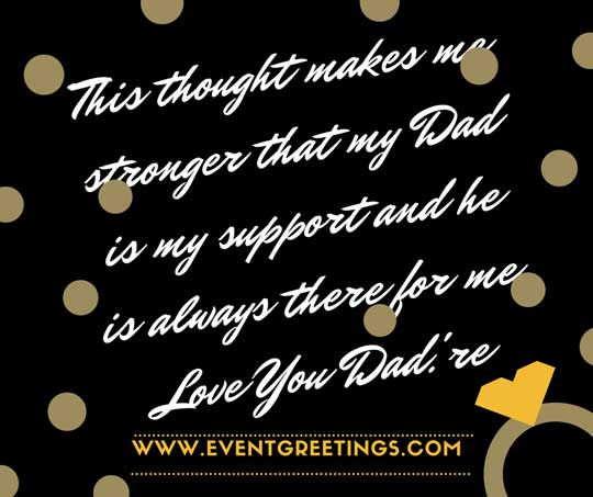 I Love You Message For Dad