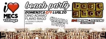 Best Show beach party Mecs Village Ostia domenica 9 luglio