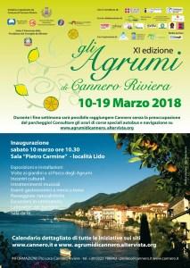 locandina 2018 Gli Agrumi di Cannero Riviera