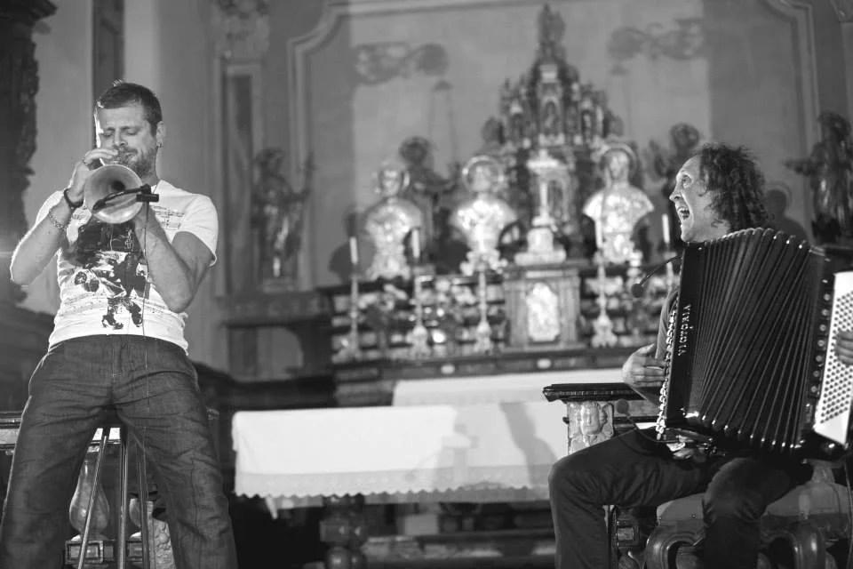 Musica a Rima 2014, Fabrizio Bosso, tromba, Luciano Biondini, fisarmonica,