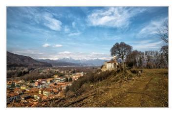 Prato Sesia vista dall'alto, foto di Ernesto Vivoli