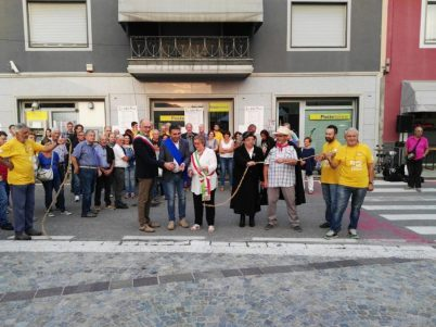 Inaugurazione taglio del nastro Fiera della cipolla bionda Fontaneto