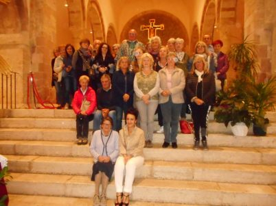 Gruppo in chiesa a Bevagna