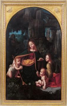 La Vergine delle Rocce, Bernardino de Conti (Madonna con il Bambino, san Giovannino e un angelo) 1508-1510, Biella, Museo del Territorio