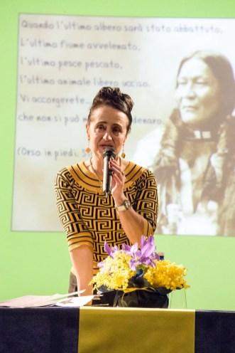 Dr.sa Piera Mazzone presentatrice della serata a Quarona