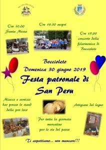 festa patronale San Peru giugno 2019
