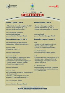 Festival Beethoven concerti locandina