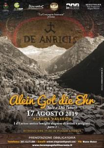 Spettacolo compagnia itinerante sulla famiglia D'Enrico Alagna