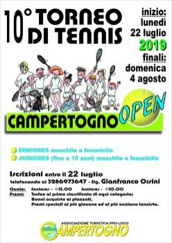 Torneo di tennis Campertogno luglio 2019
