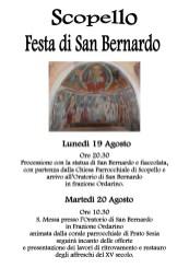 Festa San Bernardo Scopello