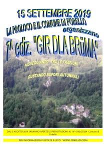 locandina Gir d'la Bruma 2019 Fobello