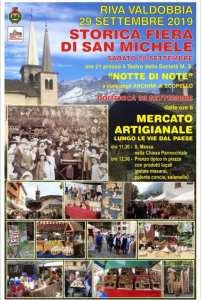 Locandina Fiera San Michele Riva Valdobbia 2019