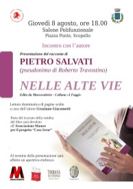 Locandina presentazione libro Nelle Alte Vie a Scopello