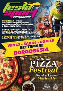 Locandina Pizza Festival e Festa dello Sport Borgosesia 2019