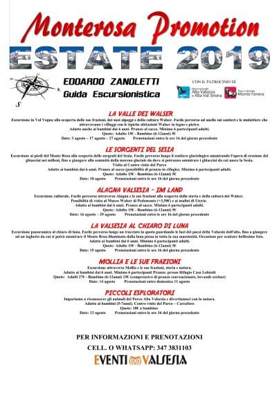 Escursioni guidate agosto 2019 Edoardo Zanoletti-Eventi Valsesia