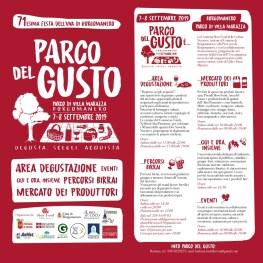 Parco del Gusto locandina 2019 pag.1