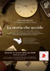 locandina La storia che uccide cena con delitto - Pro Loco Scopello 13agosto2019