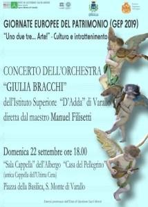 locandina concerto Giornate Europee del Patrimonio al Sacro Monte