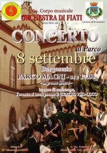 Concerto Orchestra di fiati citta di Borgosesia 8 settembre