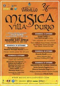 Locandina Musica a Villa Durio 2019
