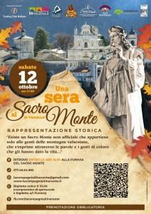 Una sera al Sacro Monte locandina spettacolo Ottobre