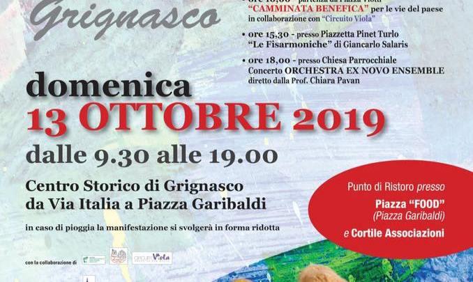 Locandina Art&food Grignasco 2019