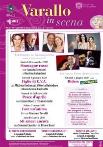 Locandina spettacoli teatro Civico Varallo 2019-20