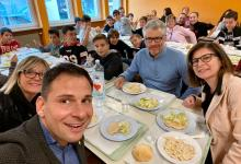 Photo of Gattinara: Il Sindaco Baglione in visita alla mensa scolastica