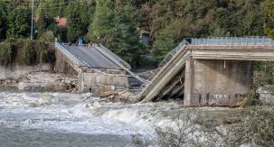 Alluvione 2020 Valsesia. Ponte di Romagnano-Gattinara. ph Ernesto Vivoli