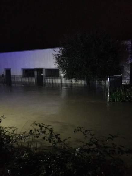 Alluvione 2020 Valsesia. Zona industriale Grignasco
