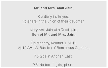 Wedding Invitation Cards Wordings For Friends