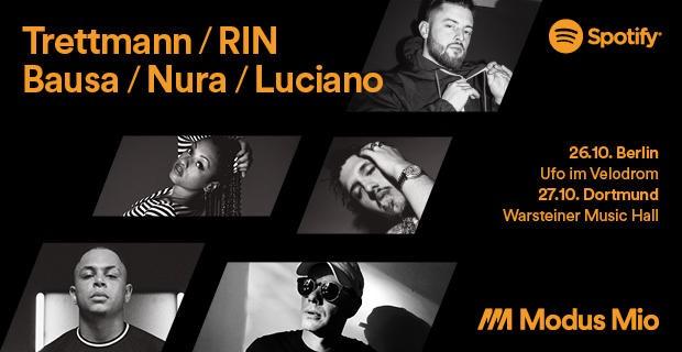 Modus Mio Live,Berlin,Musik,Freizeit,Unterhaltung,Bausa, RIN ,Trettmann,Luciano, #VisitBerlin,Hip-Hop