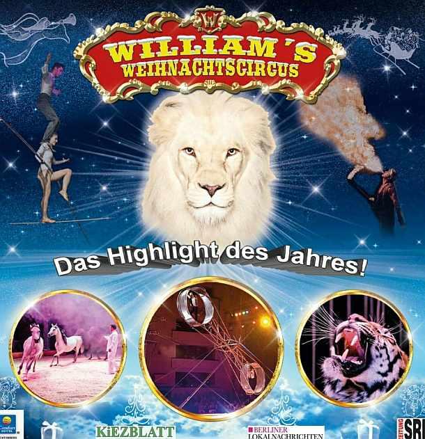 William's Weihnachtscircus- Gewinne 5×2 Freikarten