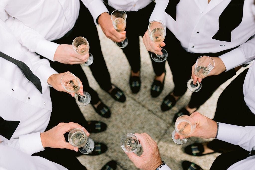 Groomsmen at Wedding in Lugano, Ticino