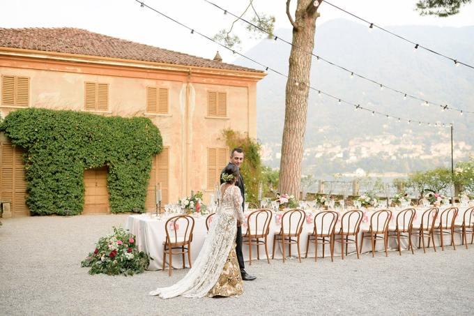 Villa Pizzo wedding reception