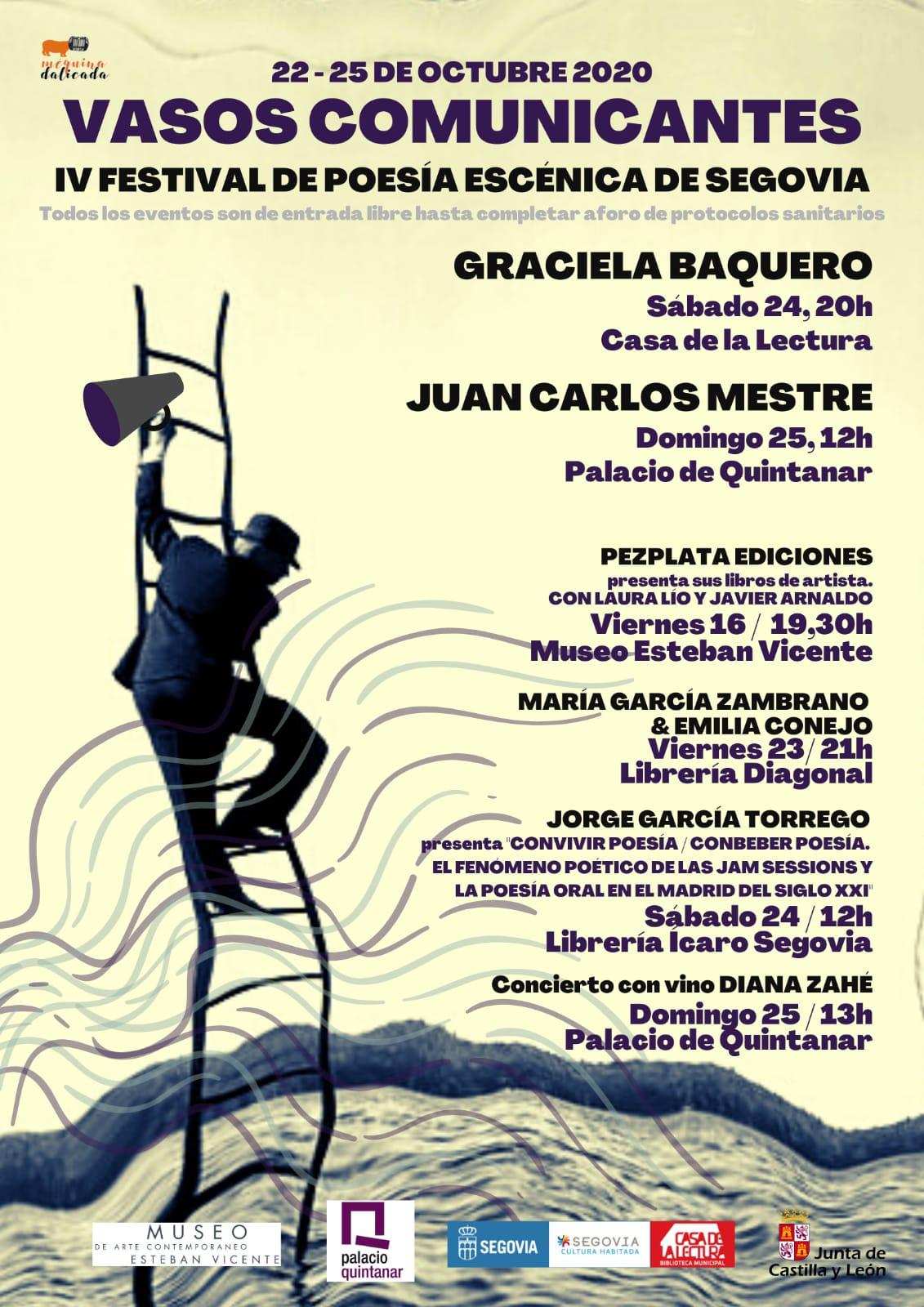 VASOS COMUNICANTES. IV Festival de poesía escénica de Segovia